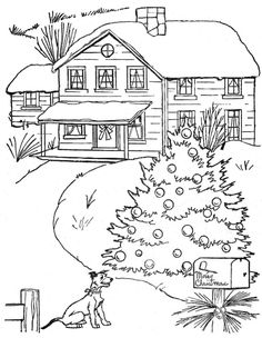 "from ""Under The Christmas Tree"" coloring book"
