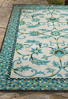 Harlow Mosaic Outdoor Rug.