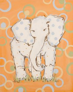 Whimsey Elephant Canvas Room Décor | Carousel Designs