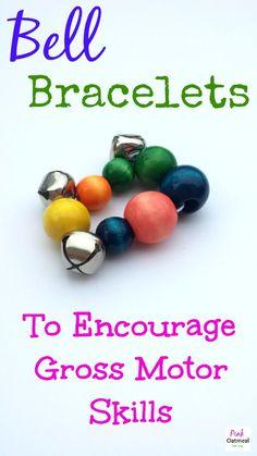Bell Bracelets For Gross Motor Motivation - Pink Oatmeal