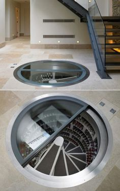Holy freakin shoe storage! Hilarious, a good idea, but hilarious.