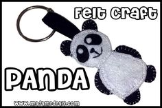 Felt Craft Projects: Learn how to make a cool Panda Craft #crafts