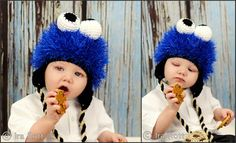 monster hat, cookie monster, cooki monster, yarn craft, crochet hatsscarv, craft idea, blues, crochet sugar, sugar monster
