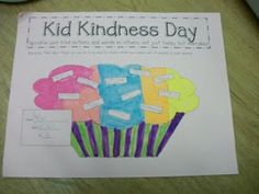 Students brainstorm ways to be kind and make a list on the sprinkles.  This could be a good first week activity. Cupcakes with sprinkles on Friday??