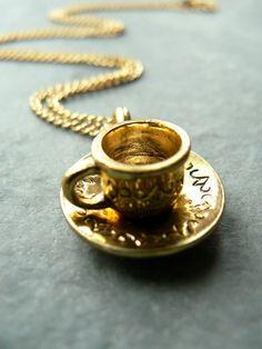 tea cup necklace
