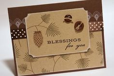 handmade Thanksgiving card ... monochromatic browns .... kraft base card ... luf the clean look to this card ... Paper Trey Ink