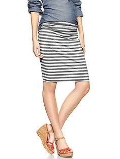 Side shirred striped skirt | Gap