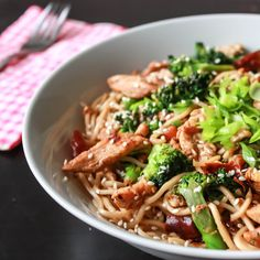 SPICY CHICKEN STIR FRY EGG NOODLES - This dish contains even distribution of noodles, garlic, chicken, broccoli, shredded carrot and egg. Lovely! This dish is sneakily easy. 30 minutes to finish :) and you are done :) you can use any vegetable that gets wasted in your refrigerator. Quick, Spicy & Easy!  #relishthebite #chicken #stirfry #egg #noodles #Spicy #quickandeasy #Asian #foodporn #foodie #foodpic #foodrecipe #recipes #asianrecipes #blog #blogger #follow #like #broccoli #carrot #sesame