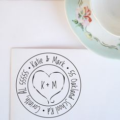 Heart Monogram Address Stamp