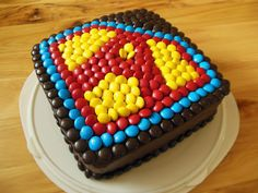Super Hero Cake. I want this. :)