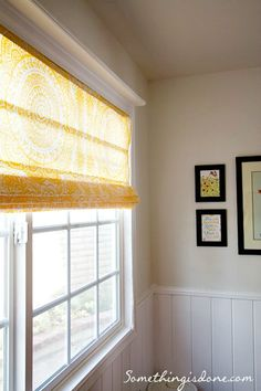 DIY Roman Shades from mini blinds