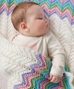 Pastel Rainbow Baby Blanket   AllFreeCrochet.com
