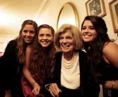 Eunice with granddaughters: Francesca, Carolina, Katherine; 2008