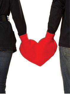 Red Heart Shaped Lovers Mitten Snuggle down for warm romantic walks.