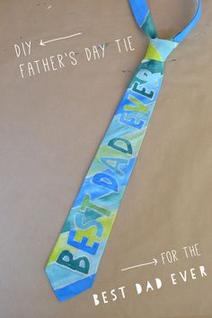 DIY Painted Father's Day Tie