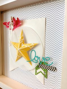 Fabulous wall art features the single star stamp from Stampin' Up!  Order supplies online at  joycefisher.stampinup.net Contact me with any questions!