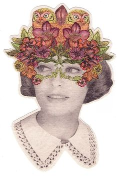 Mask design// Embroidered Wonderland   Laura Mckellar inspiration