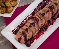 Pork Tenderloin with Saskatoon Berry Sauce