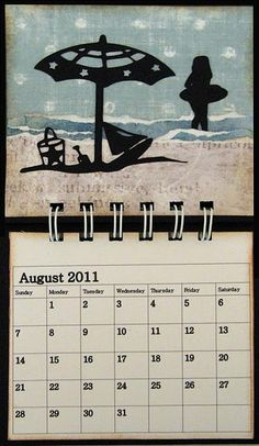 Cricut Calendar @Terrance Doxie, I'm thinking we need to make one of these! :)