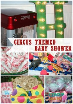 Super Cute Vintage Circus Themed Baby Shower