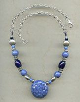Necklace - Sea of Blue @antelopebeads.com #kazuri #beading