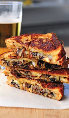 grilled cheese : gouda, mushrooms, onions