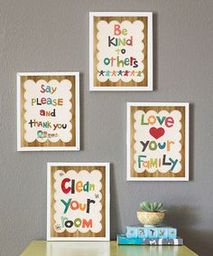 Take a look at this Good Manners Print Collection by Children Inspire Design on #zulily today!