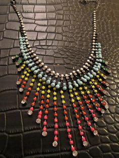 DIY painted rhinestone jewelry.
