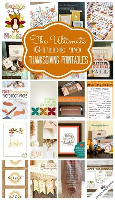 The Ultimate Guide to Thanksgiving Printables!