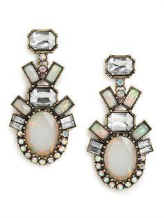 Bauble Bar Opal Clip Ons