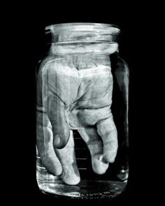 hand, jar