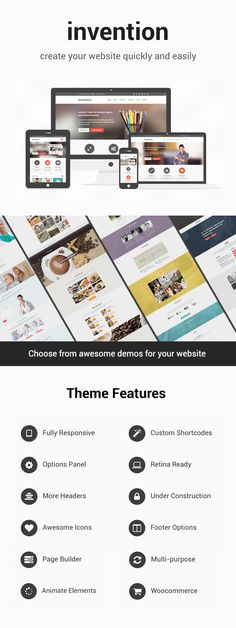 WP Theme Of the Day #219 – Invention – Responsive MultiPurpose WordPress Theme