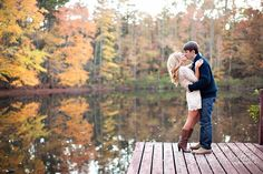 lovee the fall woodsy engagement pics. I know this isn't actually a wedding idea...but I just wanted to show you how beautiful fall engagement pictures can be!