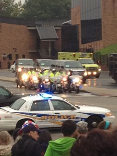 The Presidential Motorcade preparing to leave Kent State following a speech given 2012 election campaign. I didn't attend the speech, but I watched on the tv and saw him leave the campus. Not going to list political opinions here, just sharing the photo.