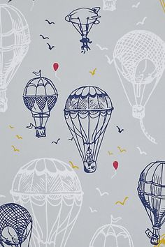 2014 #Nursery Trend: modern #wallpaper instead of paint colors. And in imaginative themes.