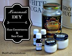 Homemade DIY Hair Conditioner and Skin Care