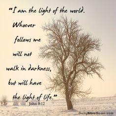 life, bibl meme, john 812, vers quot, walk, light, bibl vers