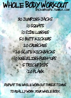 Whole body workout
