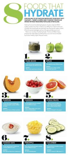 8 foods that hydrate #skin #skincare #hydrafacial
