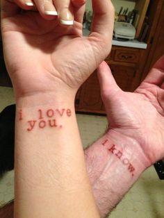 Star Wars couple tattoo. <3