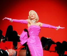 "John Travilla dress for Marilyn Monroe in ""Gentlemen Prefer Blondes"". (1953)"