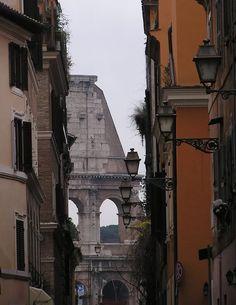 Back street in Rome.