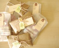 Brown paper packages tied up with string . . .