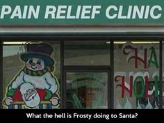 What the hell is Frosty doing to Santa?