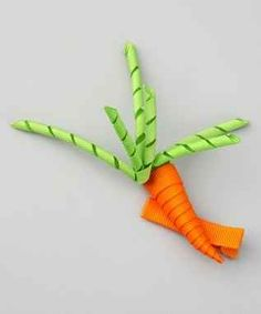 Cute Carrot Hair Clip  http://www.squidoo.com/hair-clips-for-girls with los of cute hair clips....