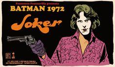 the joker, vintage posters, gotham city, batman 1972, old school, catwoman, jokers, 1970s, francesco francavilla