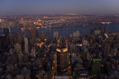 NYC at night from the Empire State Building.