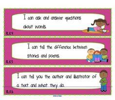 "Kindergarten Common Core ""I Can"" Statements"