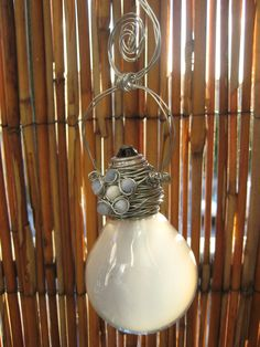 Sun Catcher: reclaimed lightbulb