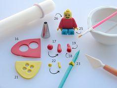 Adding Details to Lego Fondant Figure